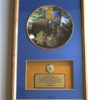 Army Service Corps plate display