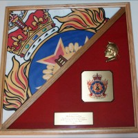 Canadian Forces Fire Fighter Academy shadow box