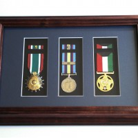 Gulf War Medals display