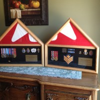 Pair of retirement shadow boxes
