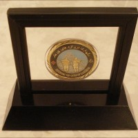 Challenge Coins Display single coin upright