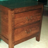 Small oak tall dresser 2 drawers