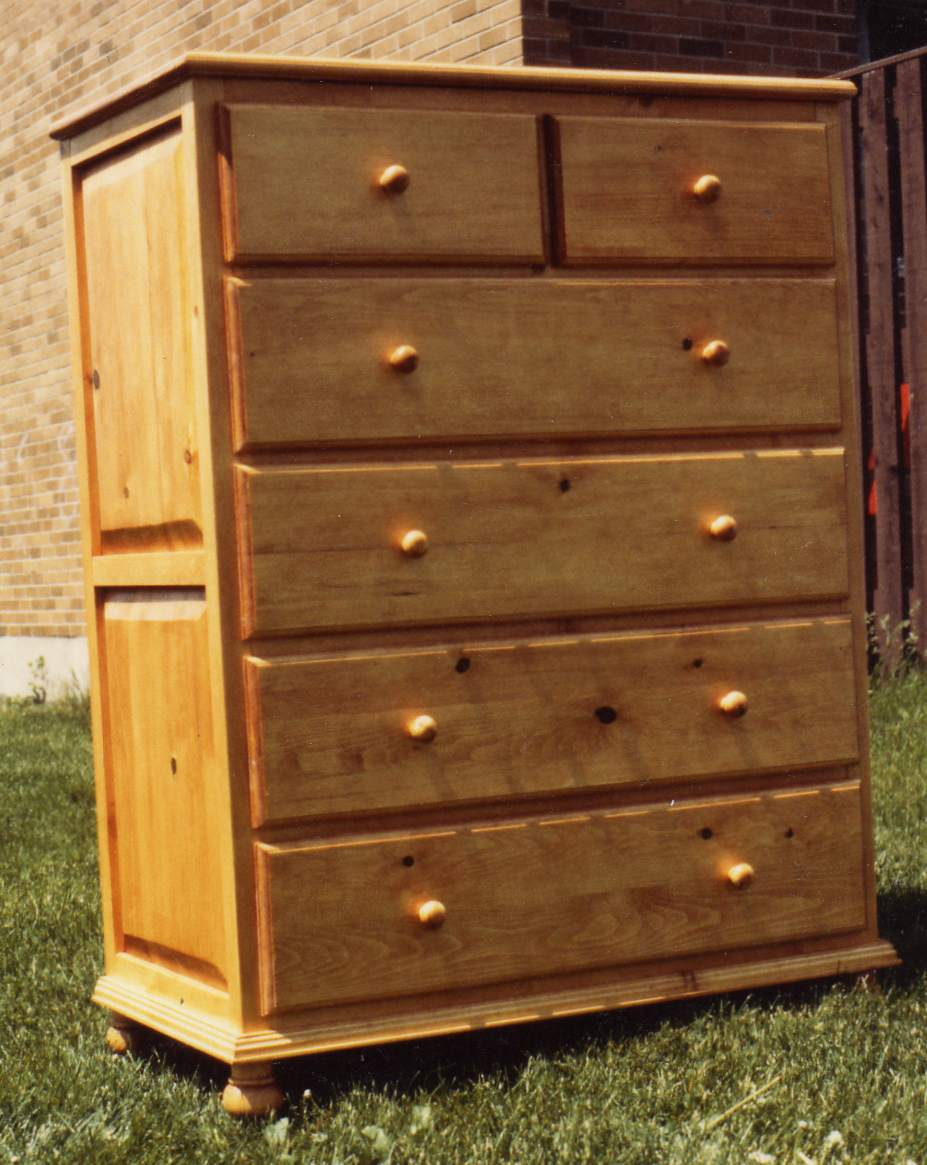 6 Drawer Tall Dresser Plans